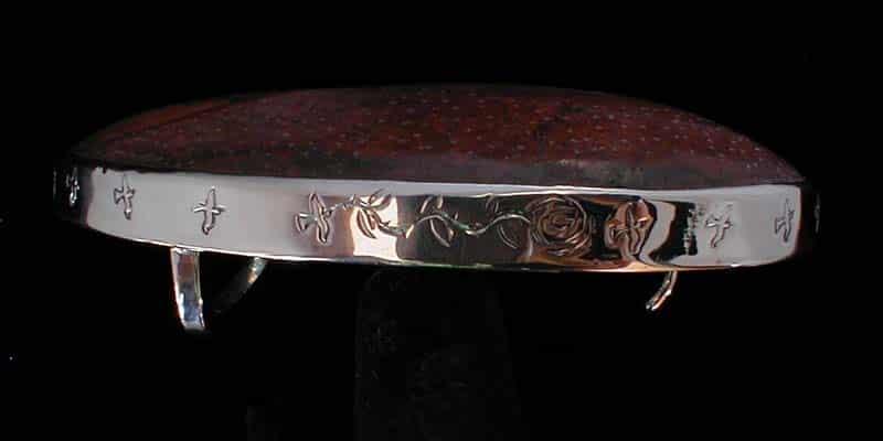 Fine Silver Bezel for Ammonite Belt Buckle