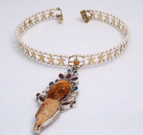 Eagle Necklace Collar Open