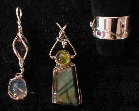 Pendants and Ruby Ring